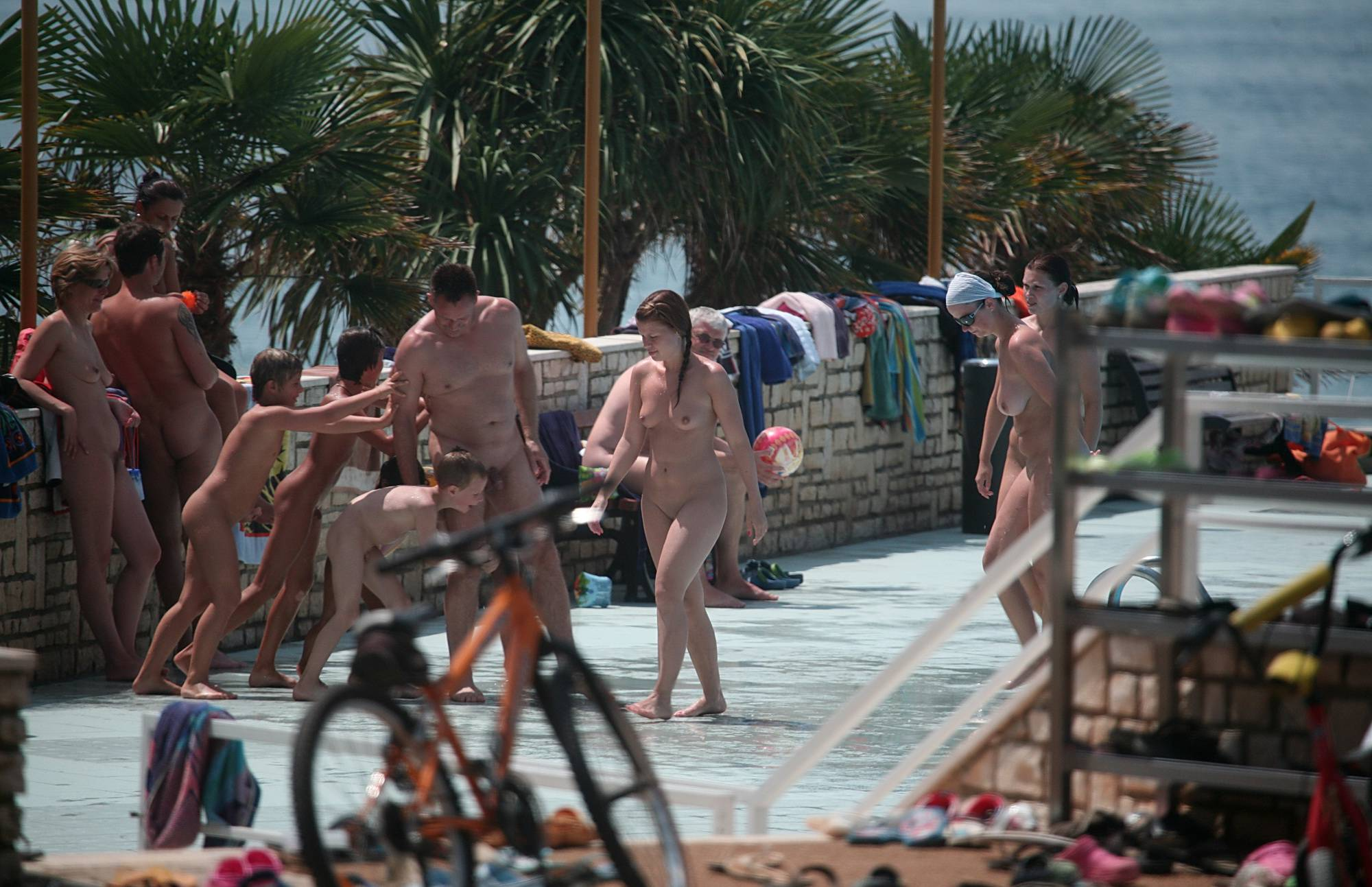 Nudist Gallery Biking On The Boardwalk - 1