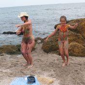 Black Sand Body Painting