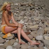Blonde Beach Rock Beauty