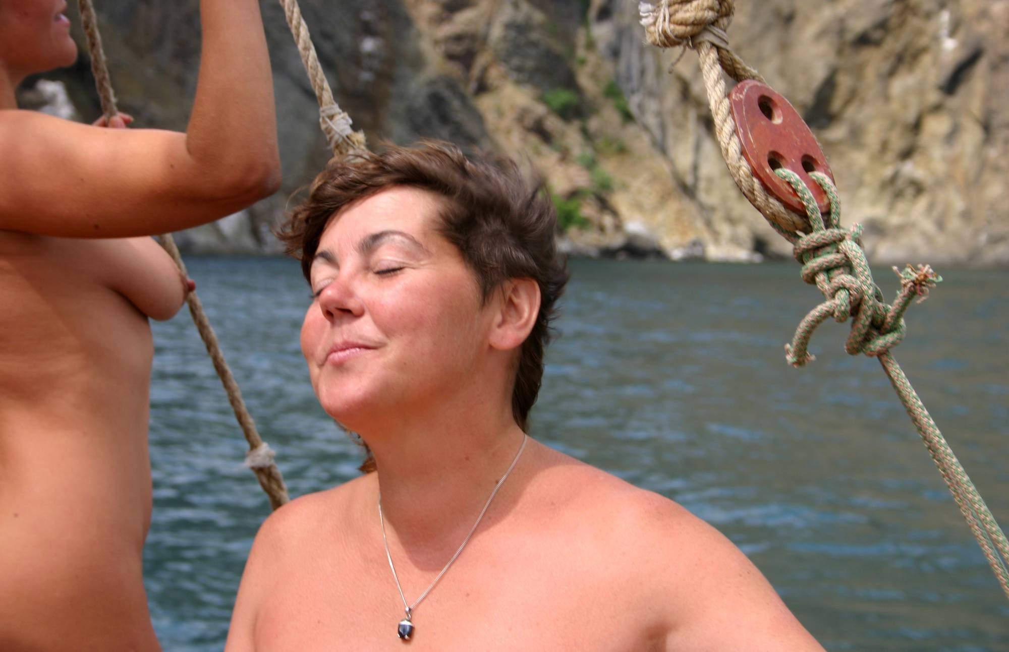Nudist Photos Boating Sail and Relaxation - 1