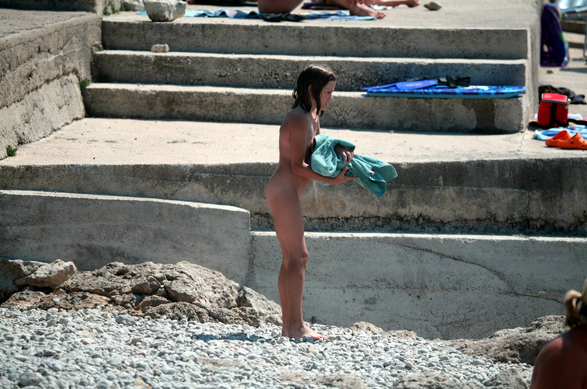 Nudist Pics Coming Down Sand Steps - 2