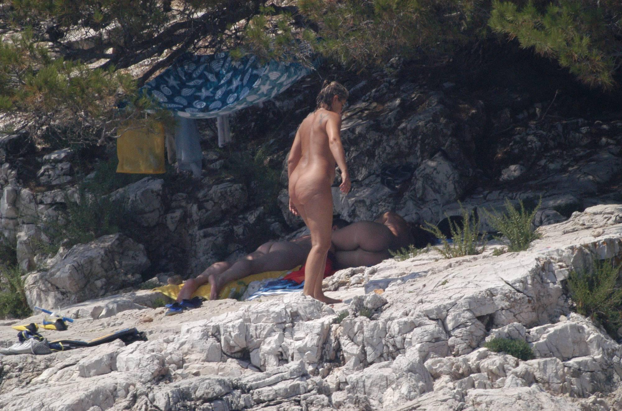 Nudist Photos Croatian Rock-Front Coast - 1