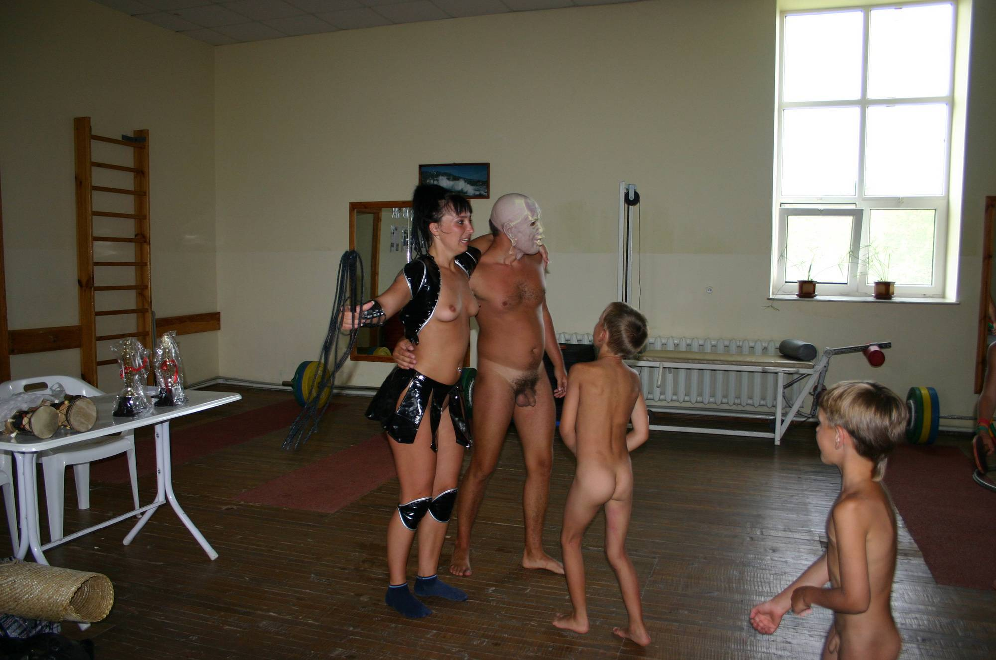 Nudist Pics Family Gym Group Photos - 1