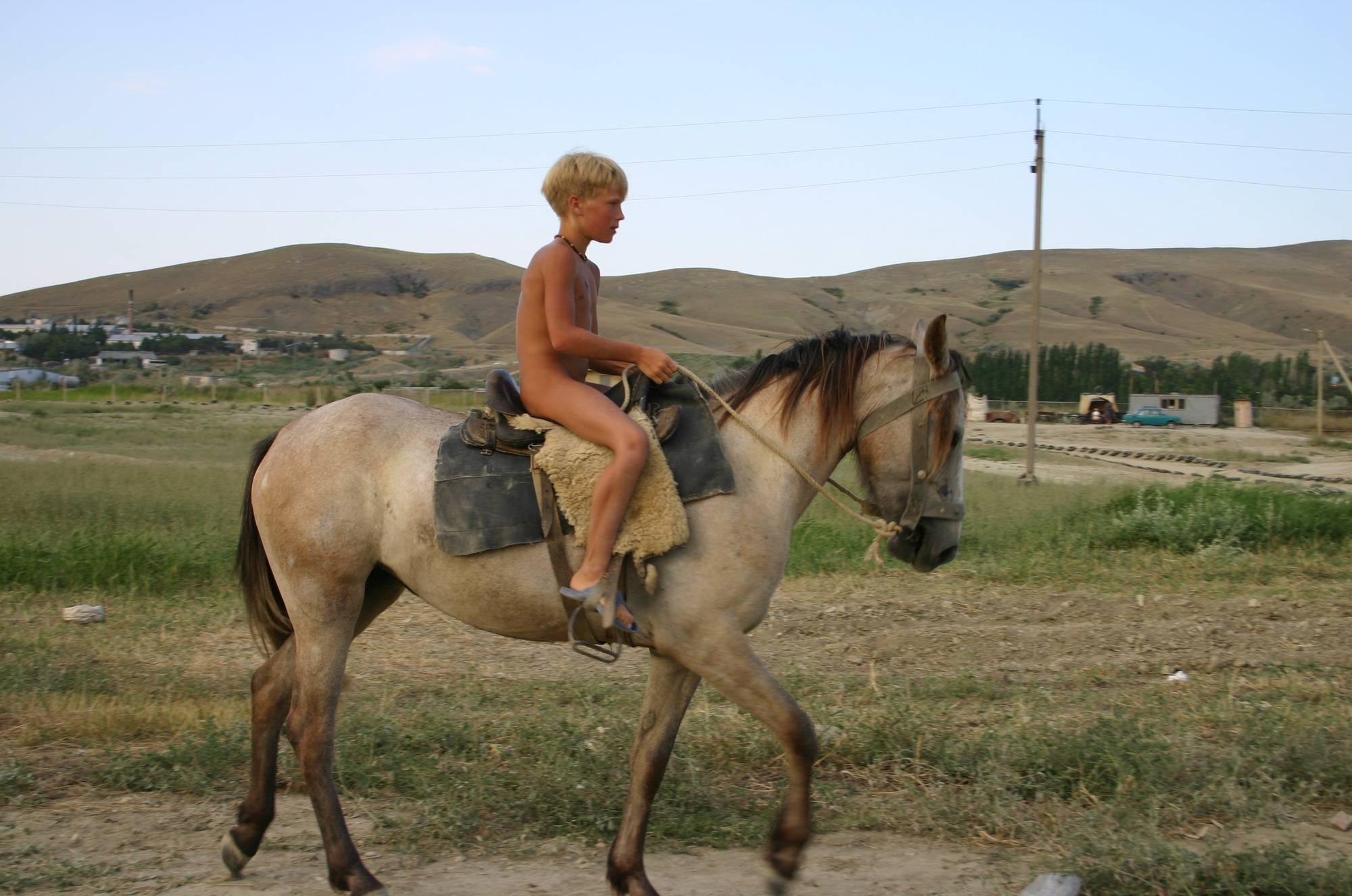 Nudist Gallery Family Horseback Riding - 1
