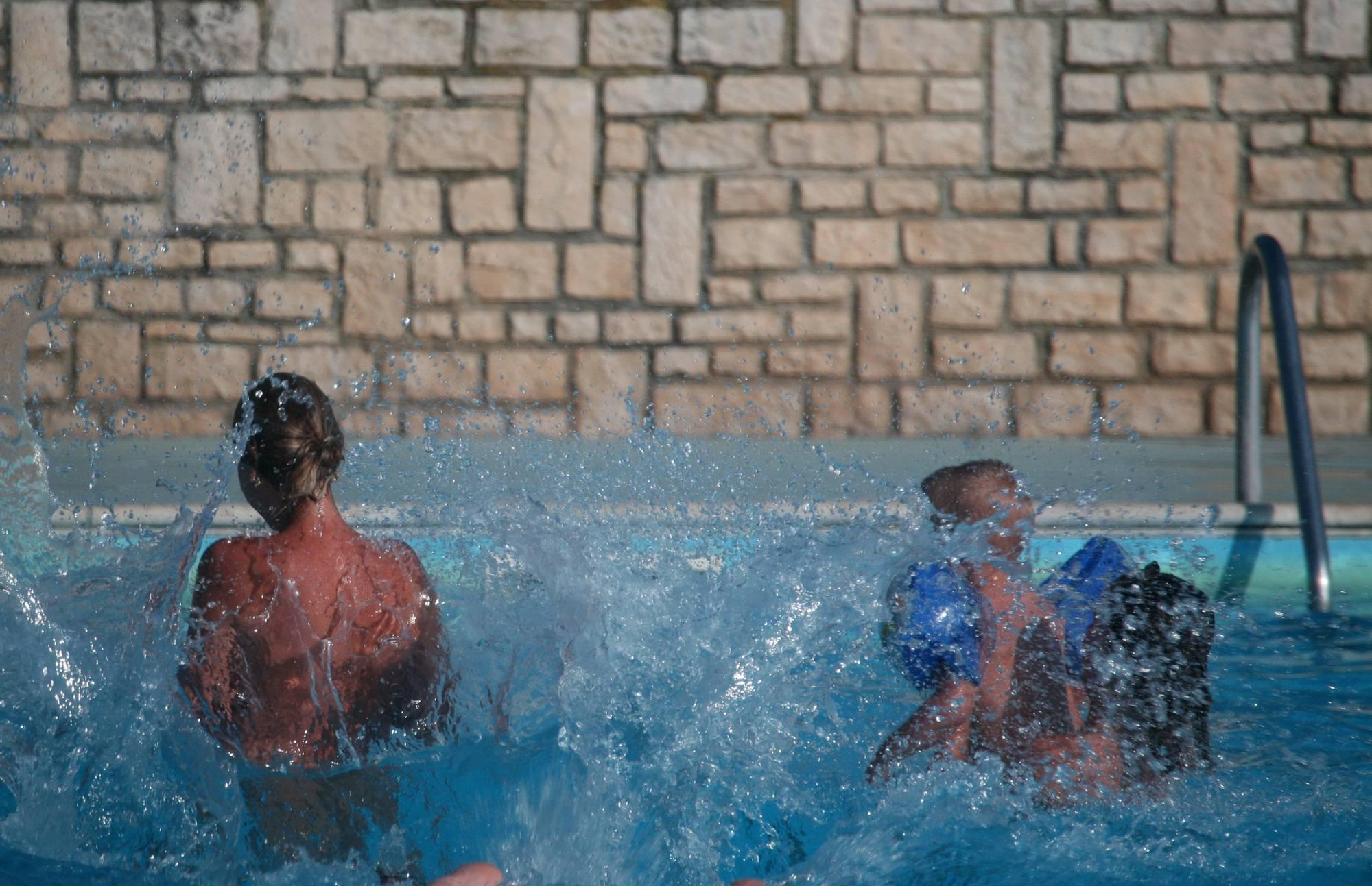 Nudist Pictures Inner Pool Nudist Activity - 1
