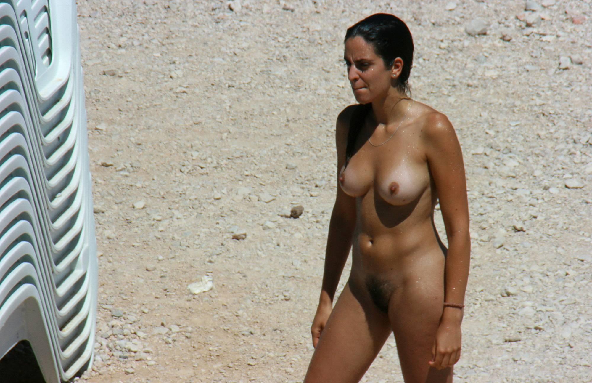 Nudist Gallery Leisurely Sand Strolling - 2