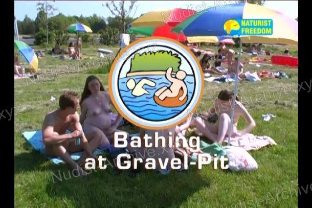 Bathing at Gravel-Pit - snapshot