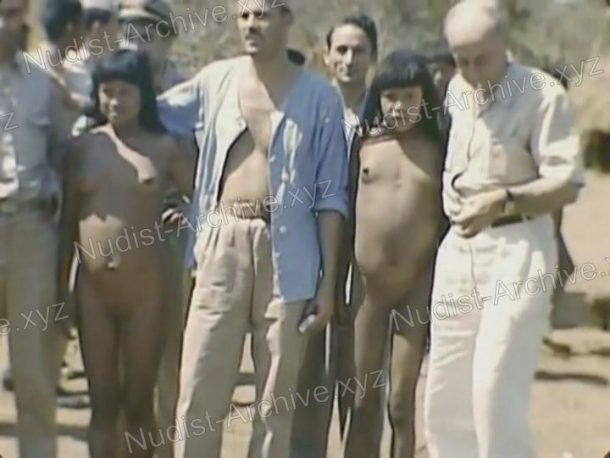 Xingu indians - Expedition to rainforests of Brazil in 1948 snapshot