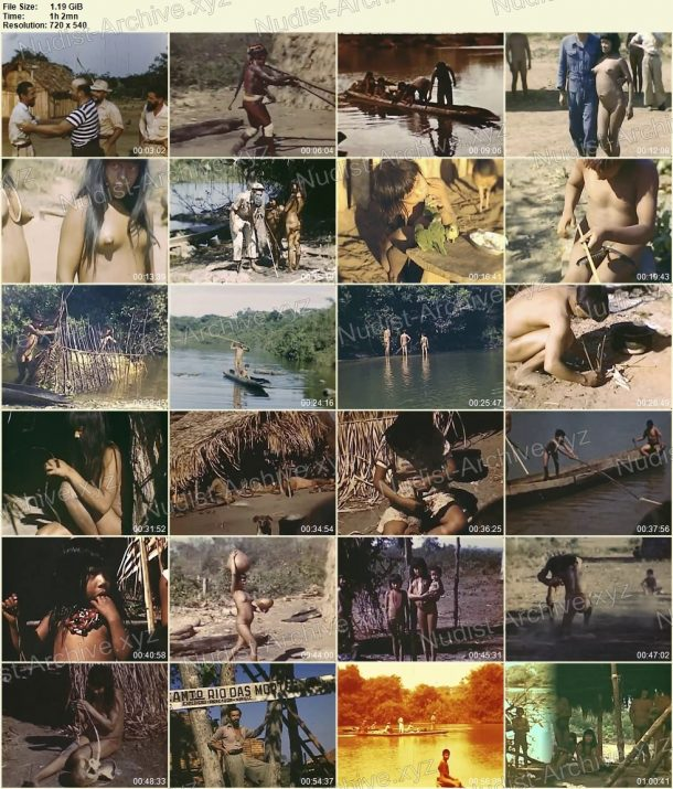Film stills Xingu indians - Expedition to rainforests of Brazil in 1948 1
