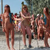 Naturist Day From Behind