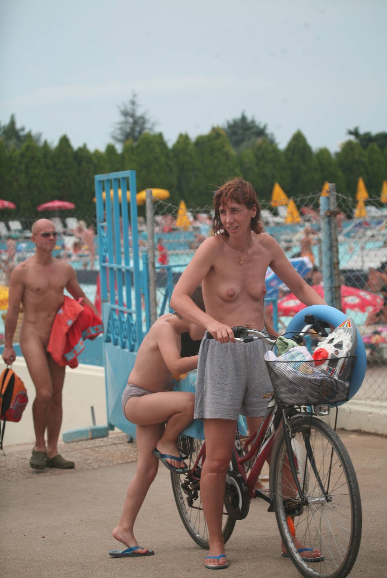 Naturist Pool Biking Exits - 1