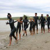 Nude Mud Painted Groups