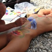 Beach Paints and Girl Rests