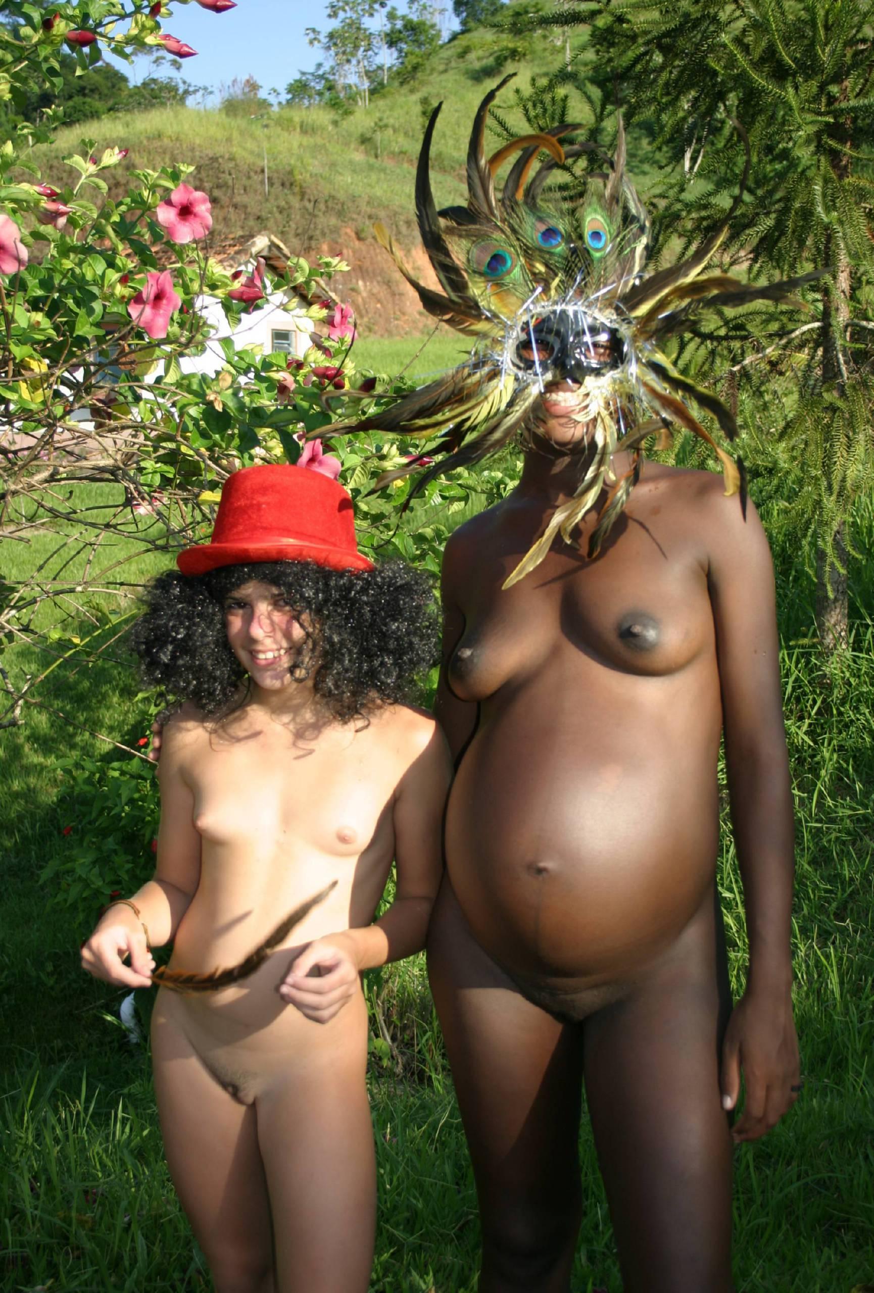 Nudist Photos Brazilian Duel Mask Shoot - 1