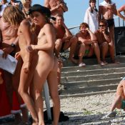 Nudist Mini Group Huddle