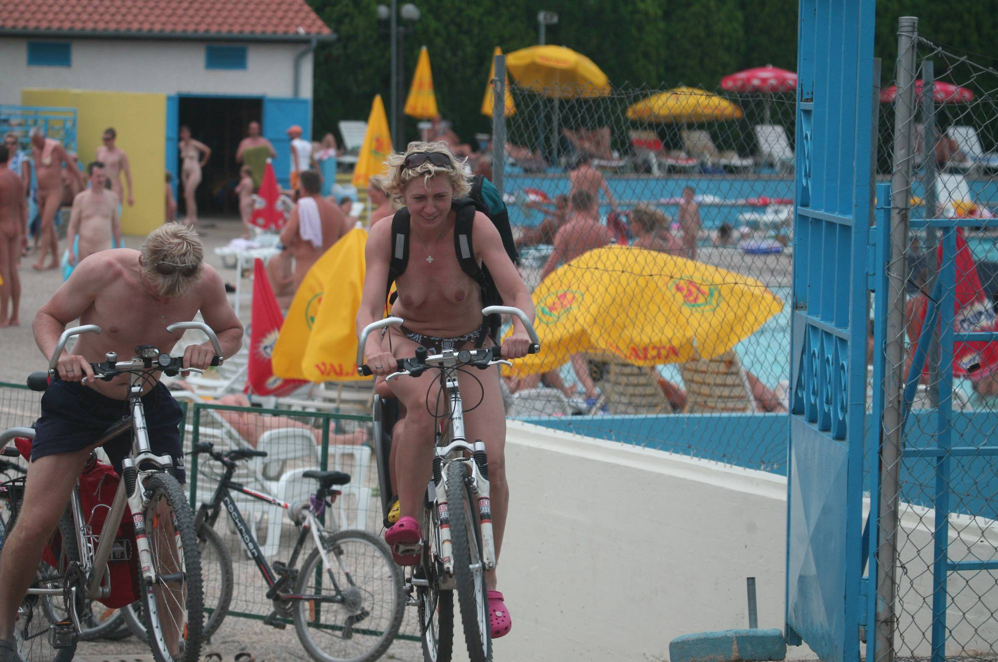 Nudist Pictures Naturist Pool Biking Exits - 2