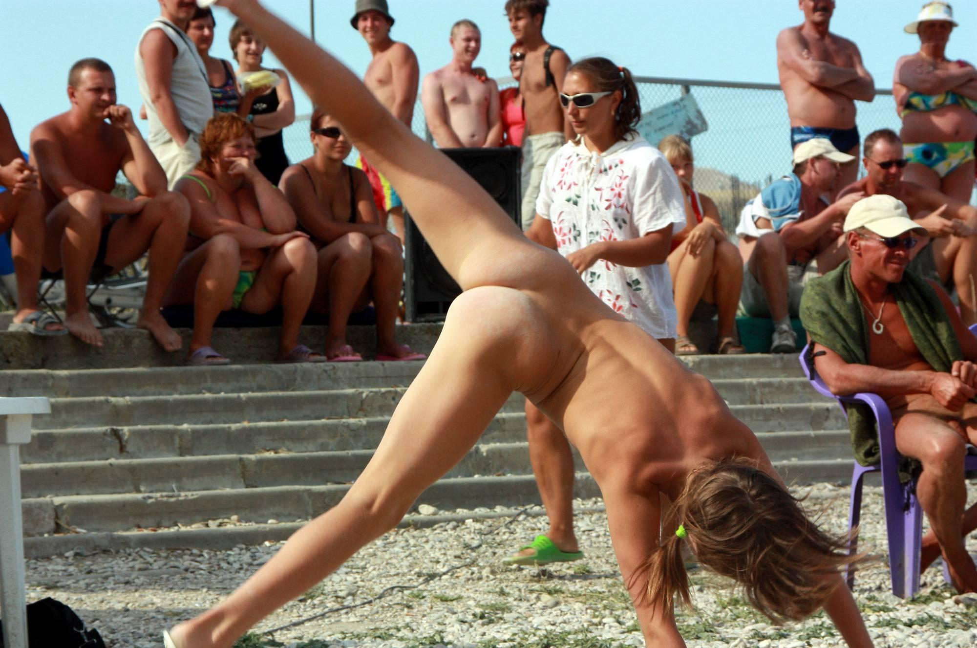 Nudist Photos Cartwheel and Beach Dance - 1