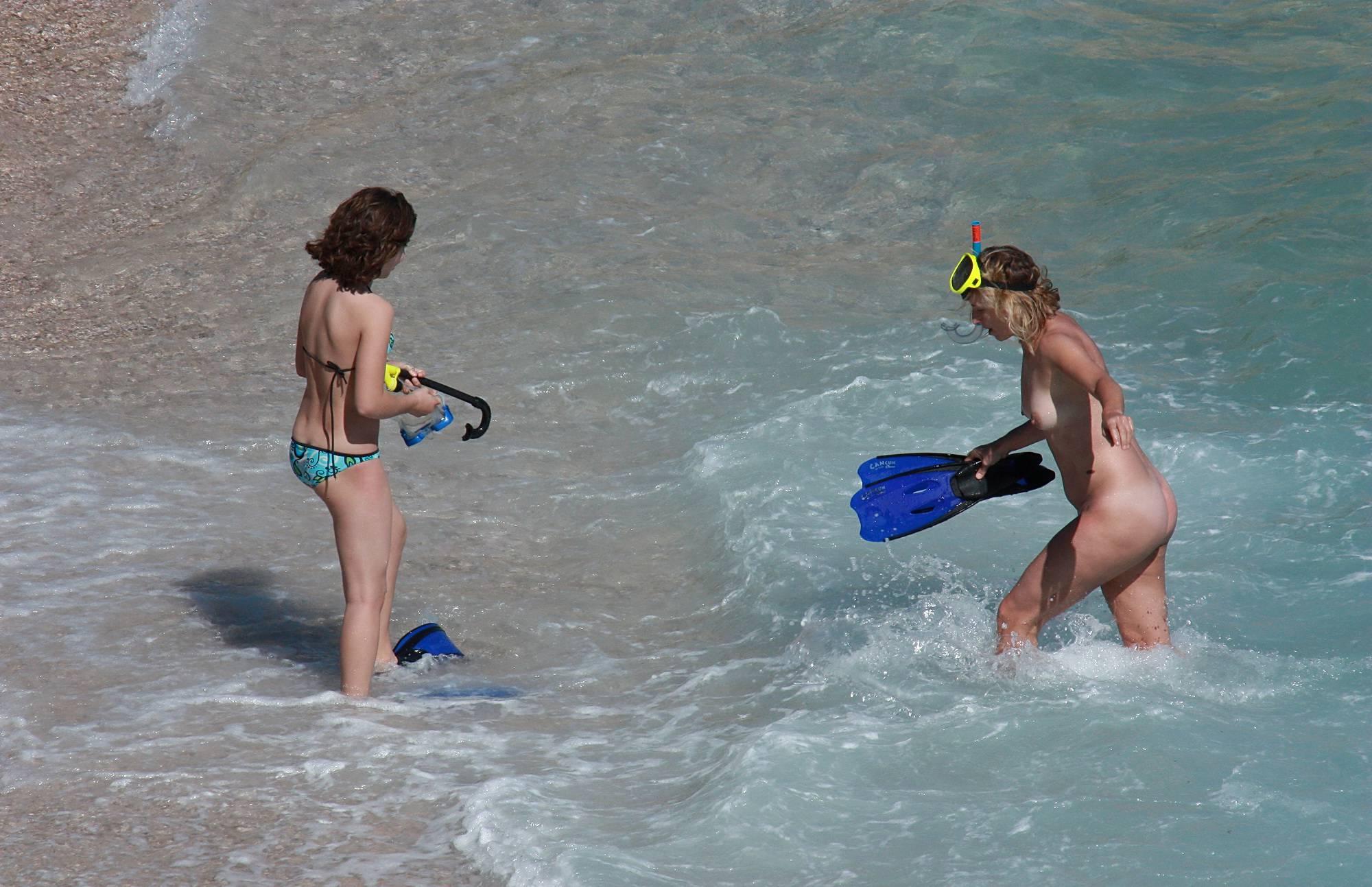 Nudist Gallery Snorkeling For Treasures - 1