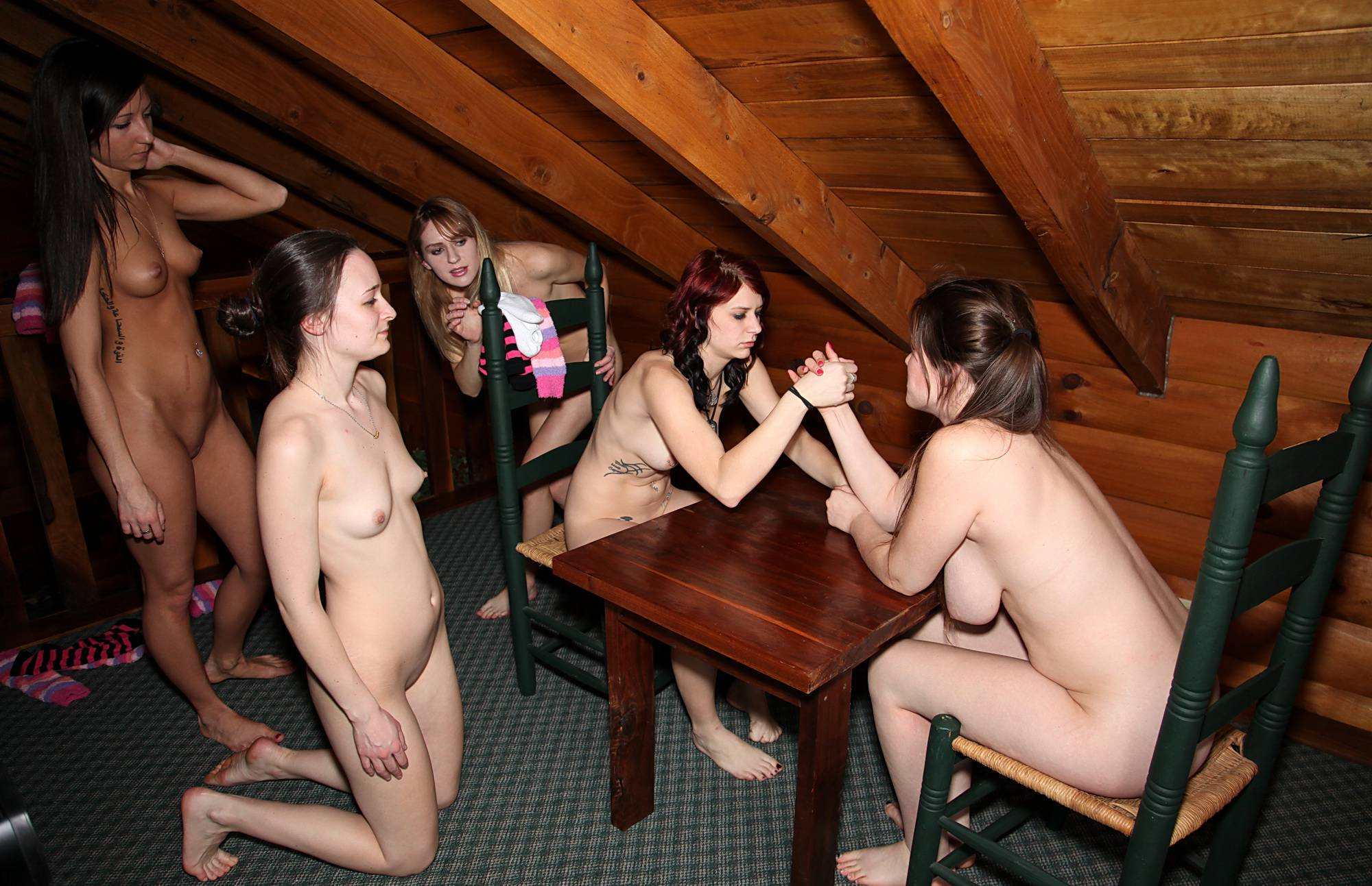 Nudist Gallery Graceful Arm Wrestling - 2
