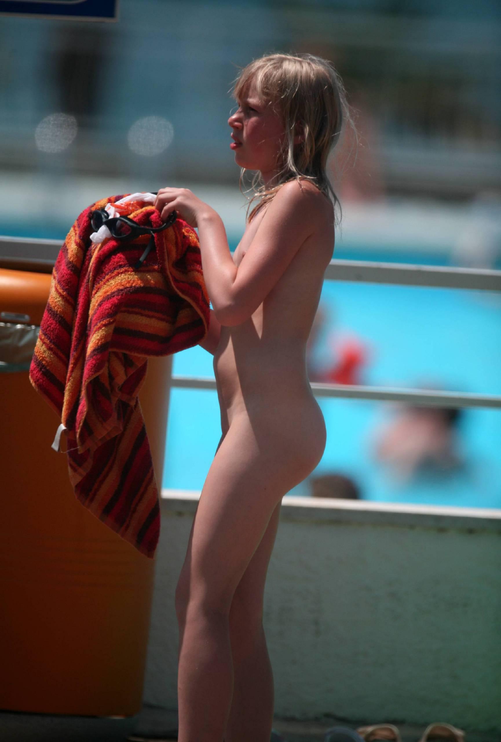 Nudist Pool Resort Towel - 1