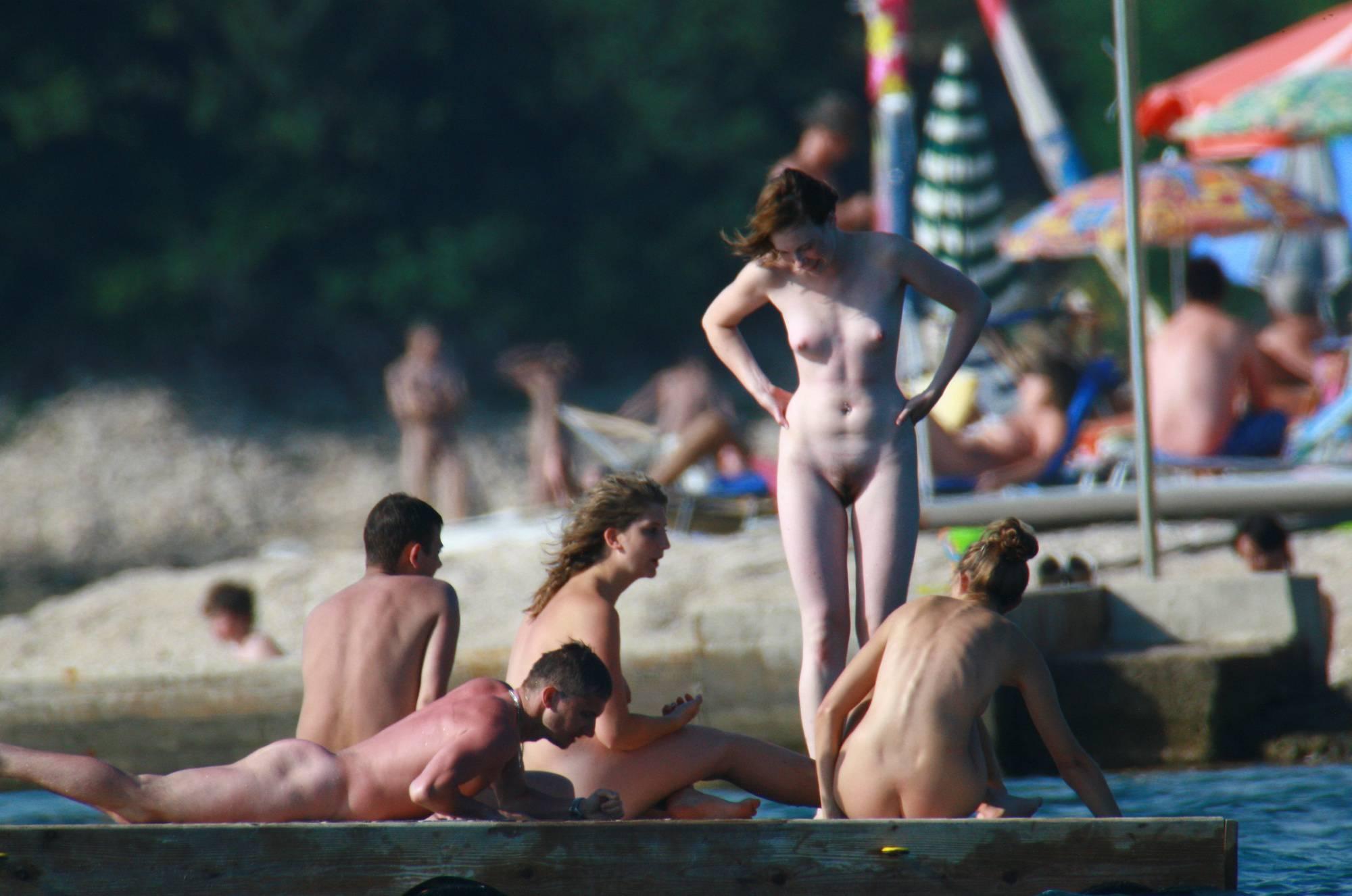 Nudist Pics Nudist Slab Group Tanning - 1