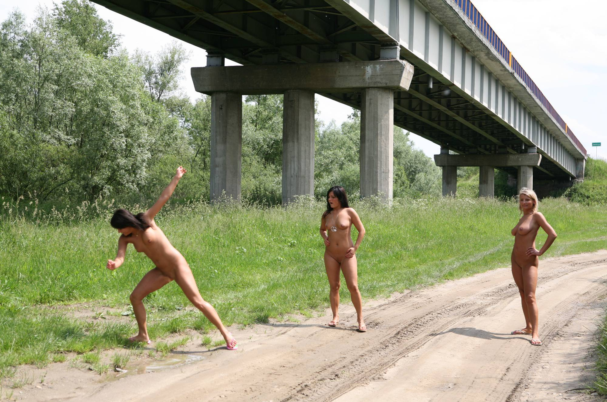 Nudist Photos Park Under The Bridge - 2