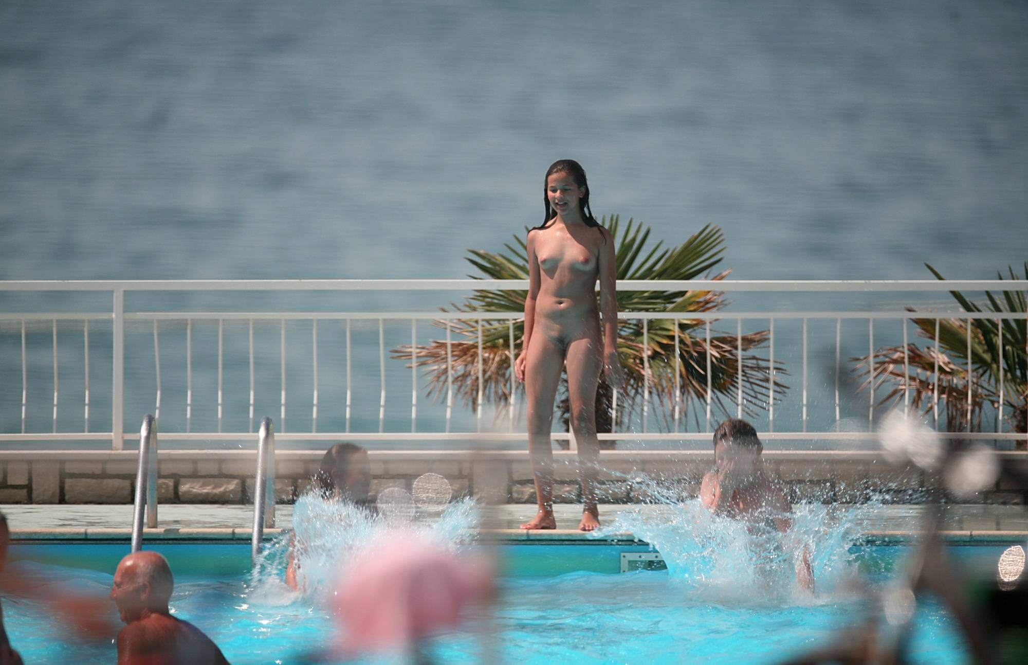 Nudist Pictures Push Girl Into Water Part - 2