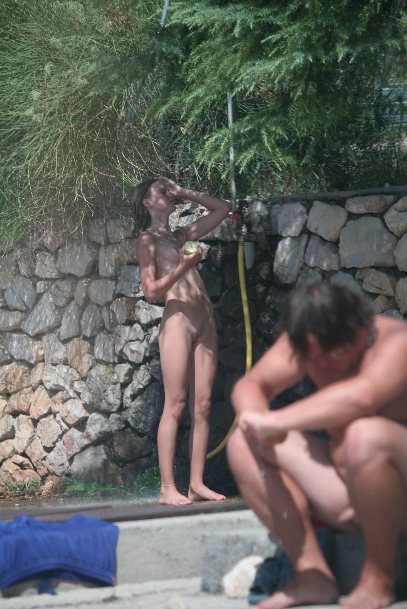 Nudist Gallery Shower-Wall FKK Sister - 1