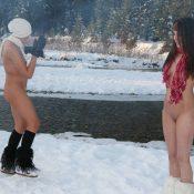 Snow Day Girls Frolicking