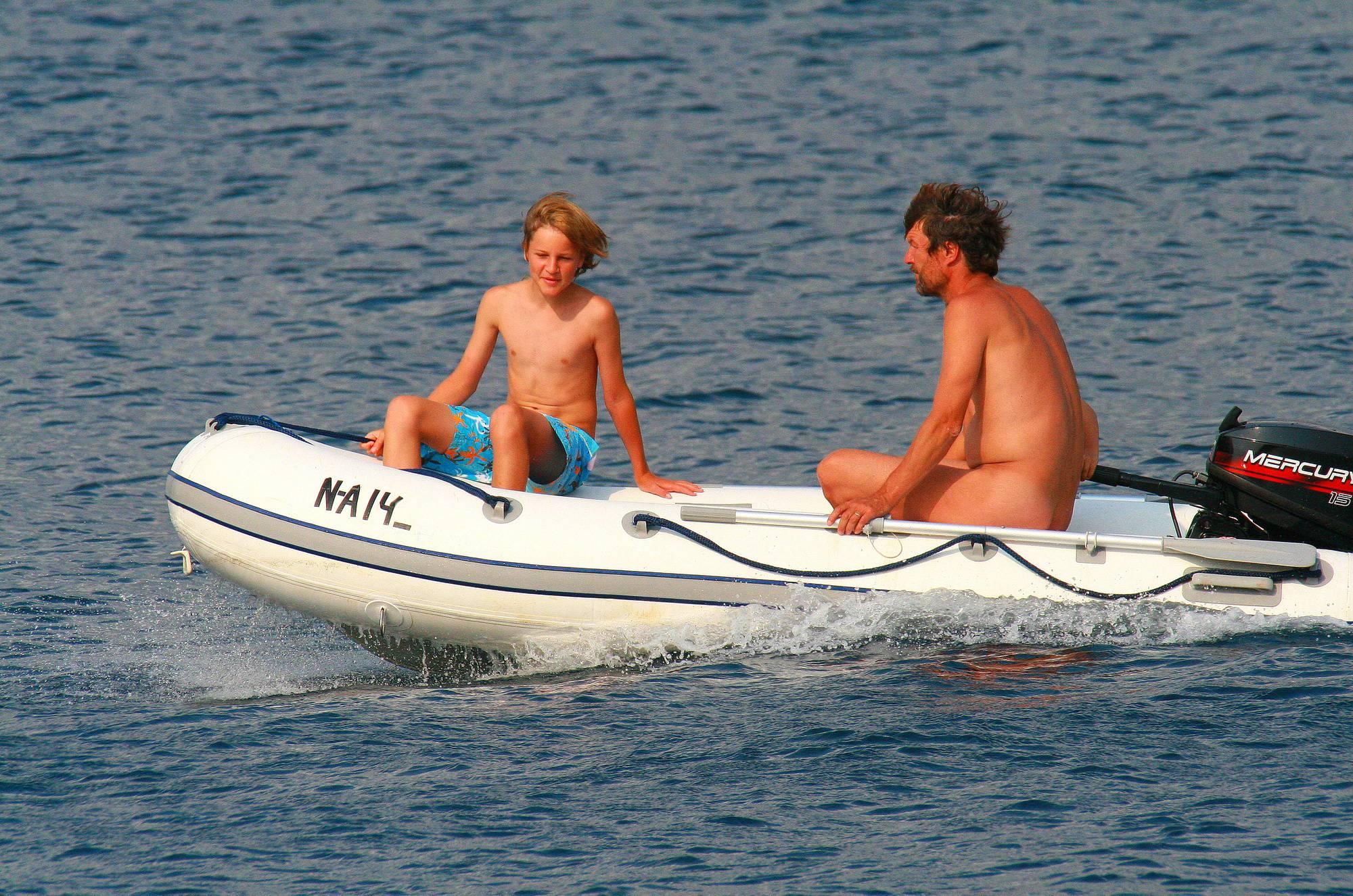 Nudist Pictures Uka FKK In-Water Boating - 2