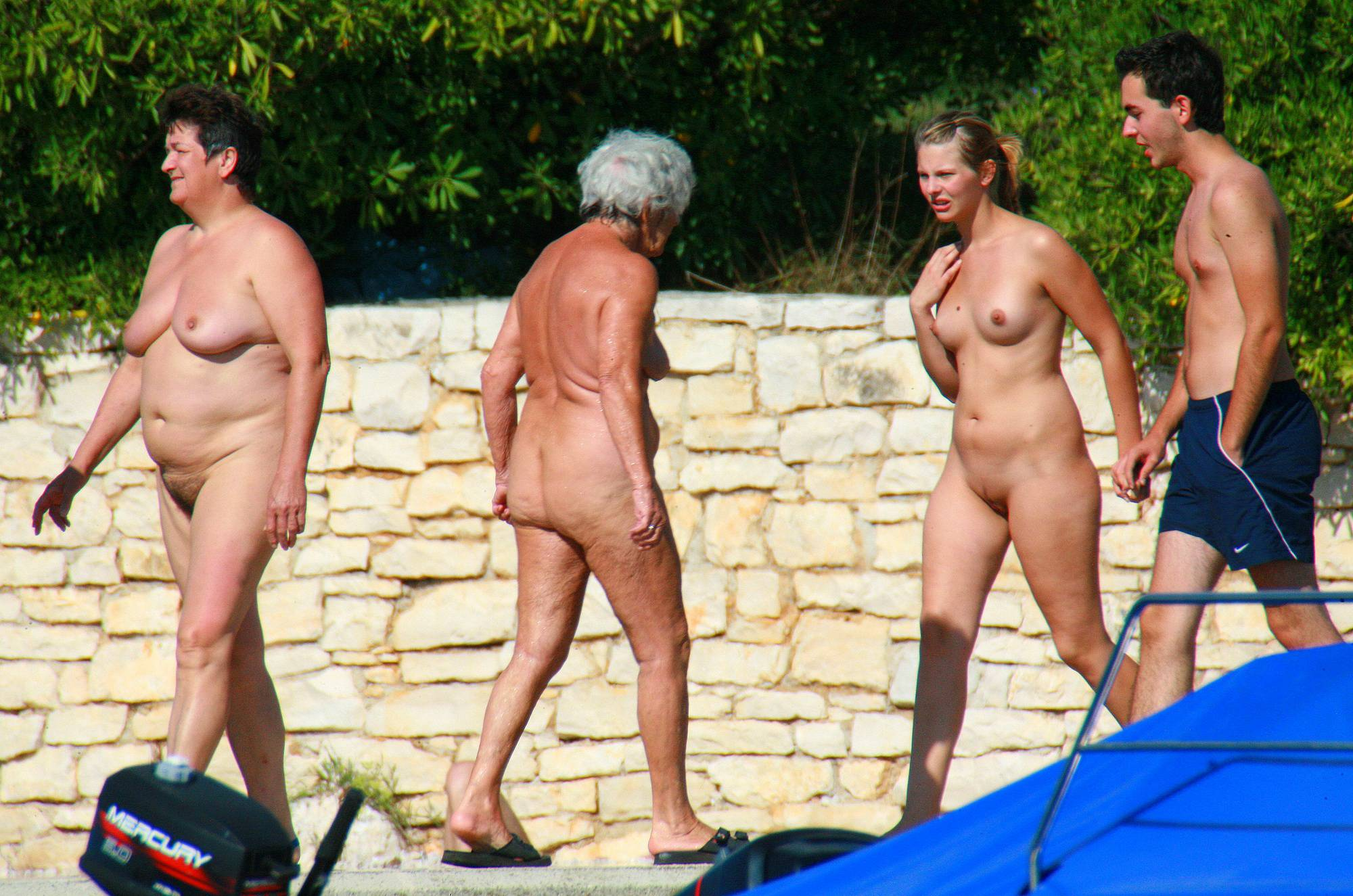 Nudist Photos Ula FKK Couple's Park Tour - 1